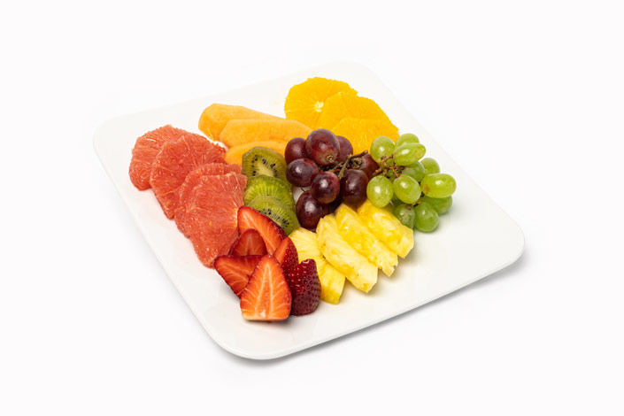 Gourmet Menu - Fruit Selection Plate served aboard Czech Airlines flights