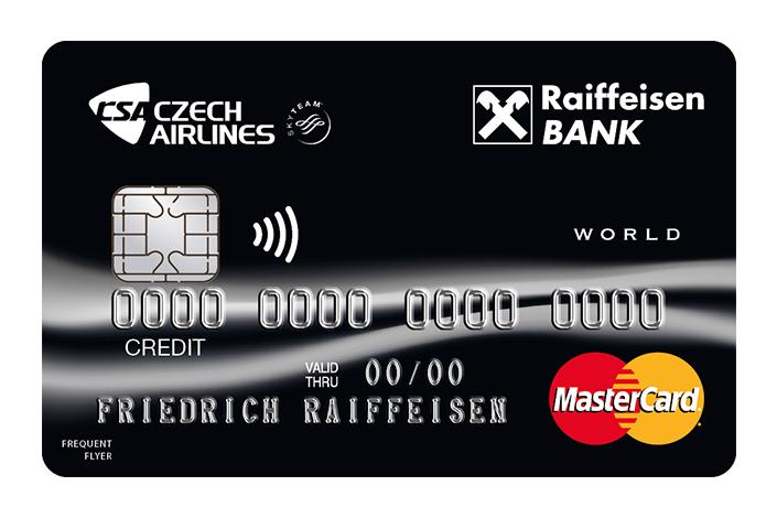 ČSA kreditní karta od Raiffeisenbank