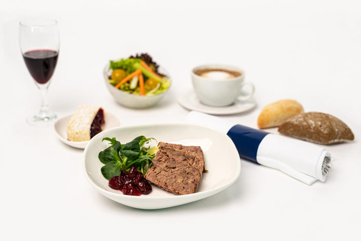 Gourmet Menu - Cold Duck Pate Menu served aboard Czech Airlines flights