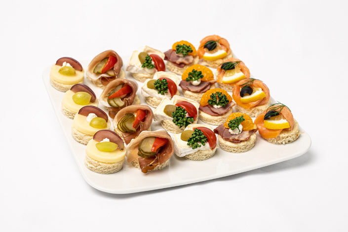 Gourmet Menu - Canapés Selection served aboard Czech Airlines flights