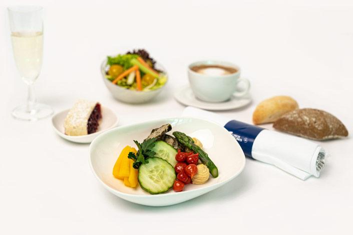 Gourmet Menu - Cold Vegetarian Menu served aboard Czech Airlines flights