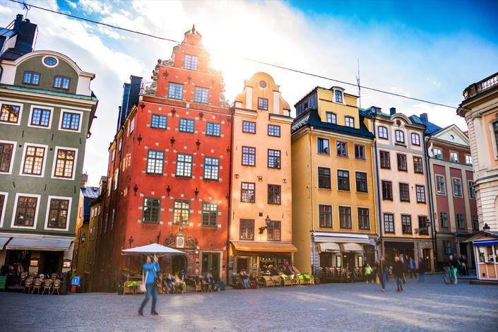 Стокгольм - Площадь Сторторгет в старом городе Гамла Стан