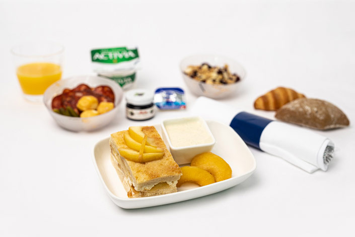 Gourmet Menu - Hot Sweet Snack served aboard Czech Airlines flights