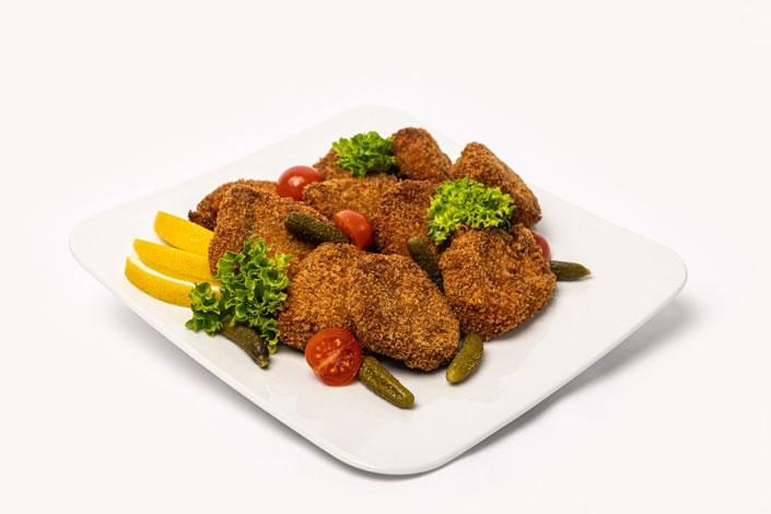 Menu Gourmet - Escalopes de porc ou poulet servi sur les vols de Czech Airlines